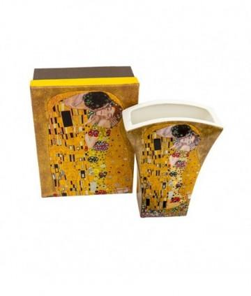 Váza Klimt zlatý vejár