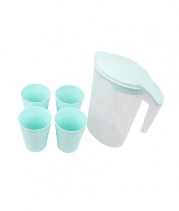 Džbán 1,75l + 4 poháre plast