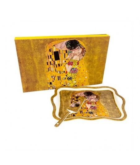 Tácka s lopatkou Klimt zlatý