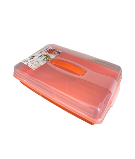 Dóza na zákusky oranžová