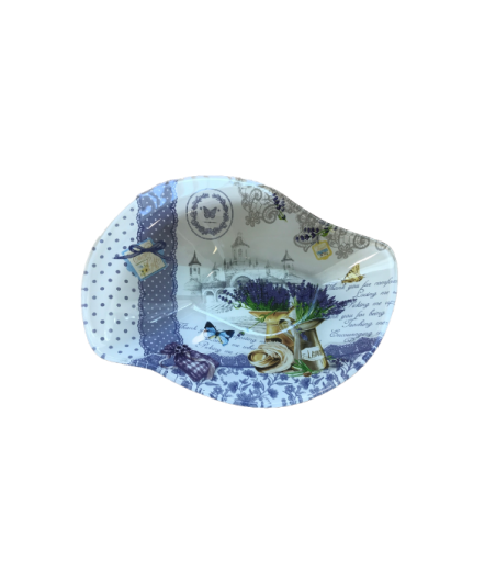 Miska Levandula sklo 20,5x16,3x3,8cm
