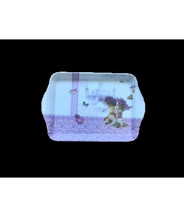 Tácka melamín 21x14x1,8cm