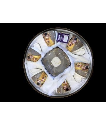 9233 Sada šálok 6+6 Klimt šedý