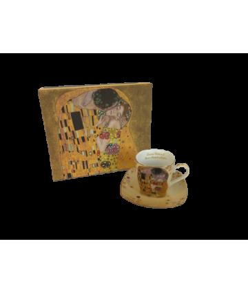 Sada šálok 2+2 mokka Klimt