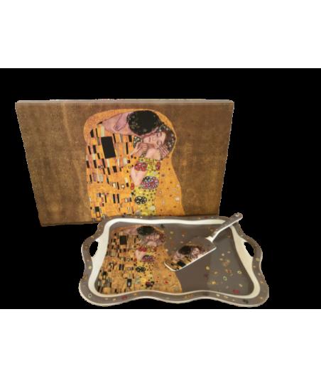 Tácka s lopatkou Klimt šedý