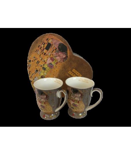 Sada hrnčekov 2ks Klimt šedý