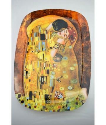 Tácka Klimt sklo 35x25cm