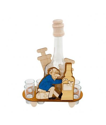 Fľaša s pohármi 6ks Lekár 642
