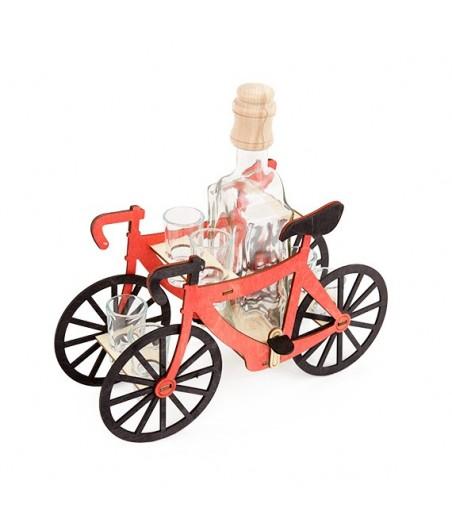 Fľaša s pohármi 6ks Bicykel 706