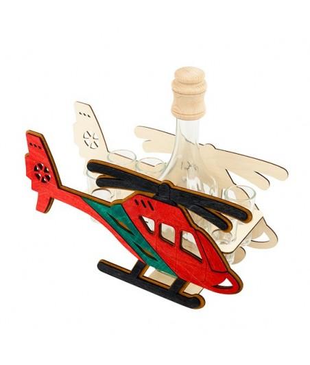Fľaša s pohármi 6ks Helikoptéra 698