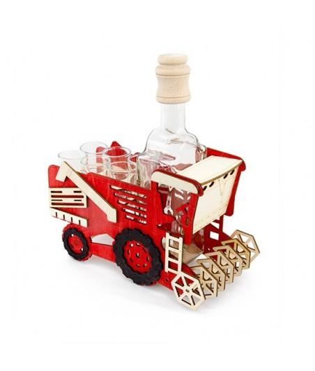 Fľaša s pohármi 6ks Kombajn 699