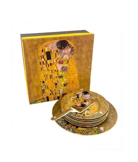 Dezertová súprava 8D Klimt zlatý