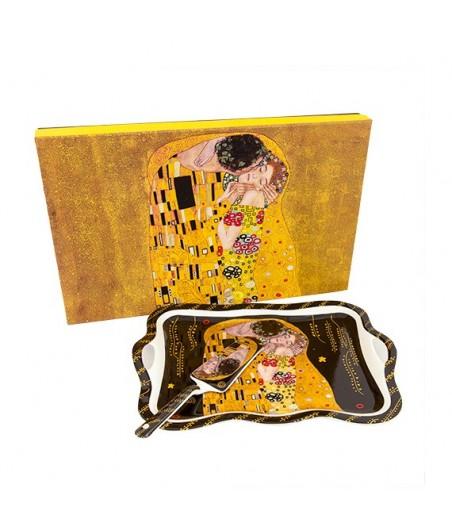 Tácka s lopatkou Klimt čierny