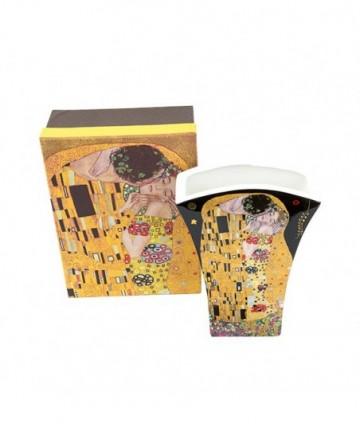 Váza Klimt čierny vejár