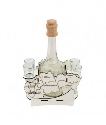 Fľaša s pohármi 6ks Mapa 609