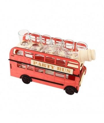 Fľaša s pohármi 6ks Autobus...